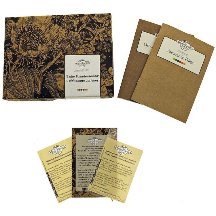 kit para regalo de semillas de tomates raros y especiales de central de semillas